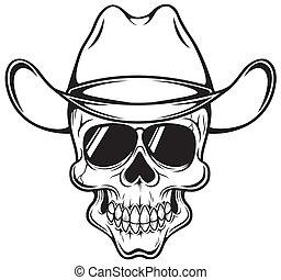 cráneo, vaquero