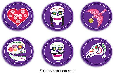 cráneos, insignias