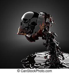crâne, liquide