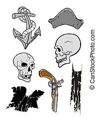 crânes, pirate