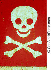 crânio crossbones, símbolo advertindo