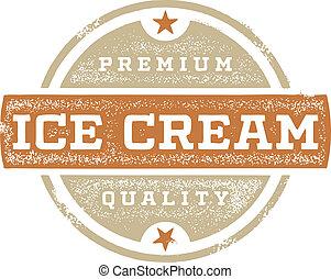 crème, prime, glace, signe