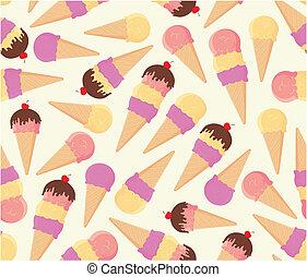 crème, seamless, fond, glace