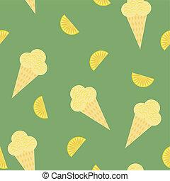 crèmes, seamless, fond, glace