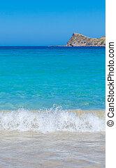 crète, été, scène, plage
