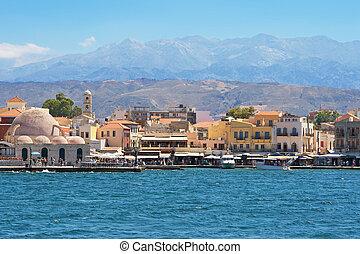 crète, chania, harbour.