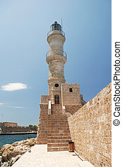 crète, phare, chania