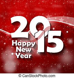 créatif, conception, année, 2015, nouveau, heureux