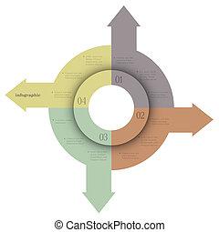 créatif, conception, banners-arrows, infographics