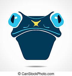 créatif, grenouille, figure