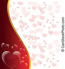 créatif, jour, carte, valentine