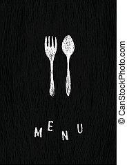 créatif, menu, template., vecteur, eps8