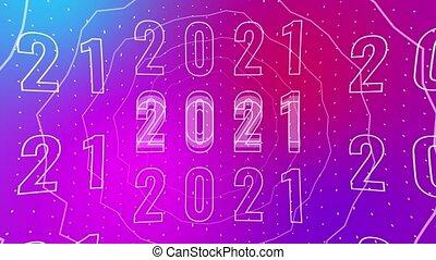 créatif, mouvement, 2021., typographie, conception