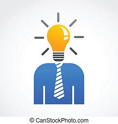 créatif, résumé, idée, humain, icône