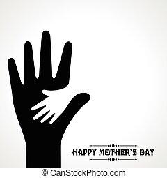 créatif, salutation, jour, carte, mères