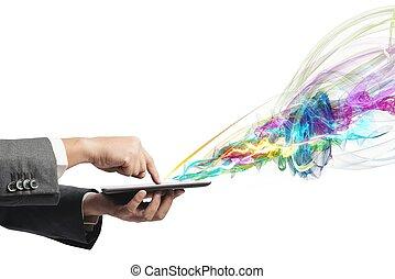 créatif, technologie