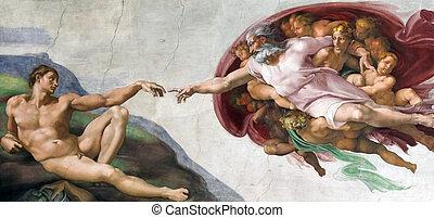 création, adam
