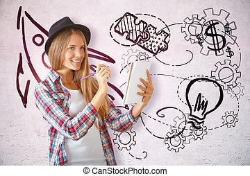 créativité, concept, education