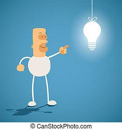 créativité, concept., light., connaissance