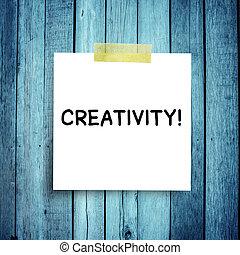 créativité, concepts, message, note, sphère, reussite