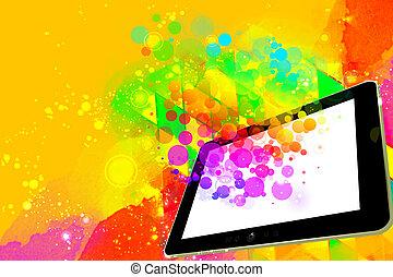 créativité, tablette, numérique