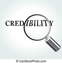 crédibilité, thème, vecteur, illustration