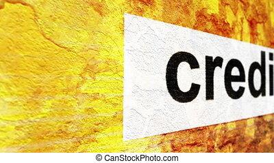 crédit, étiquette, grunge, fond