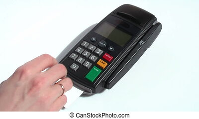 crédit, 04, carte, -, terminal, hd, scène