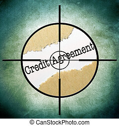 crédit, accord, cible