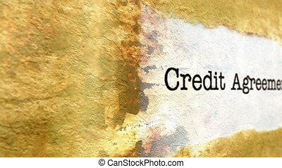 crédit, accord