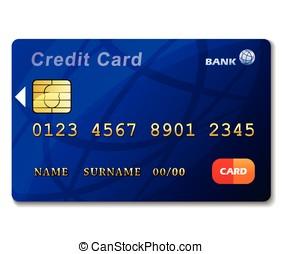 crédit, blanc, carte, fond
