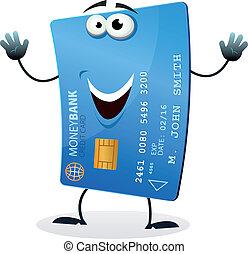 crédit, caractère, dessin animé, carte