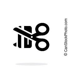 crédit, deactivation, arrière-plan., blanc, carte, icône