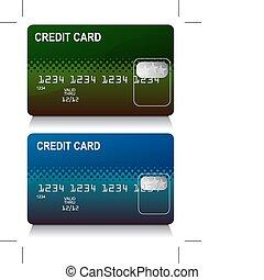 crédit, ensemble, carte