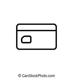 crédit, fond, ligne, blanc, carte, icône