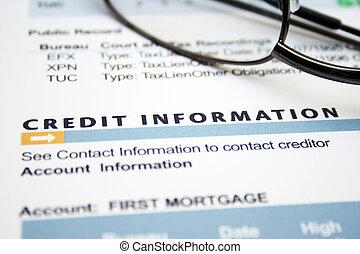 crédit, formulaire