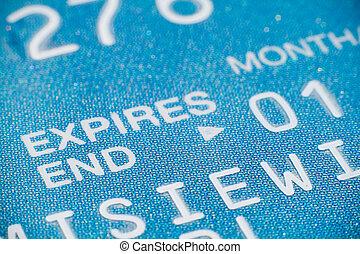 crédit, gros plan, carte