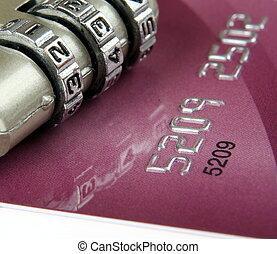 crédit, haut, carte, fin