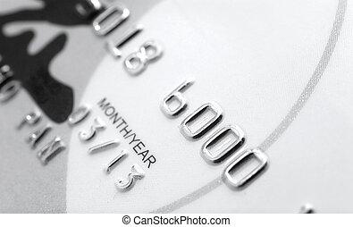 crédit, haut, carte, vue, fin