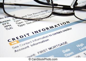 crédit, information