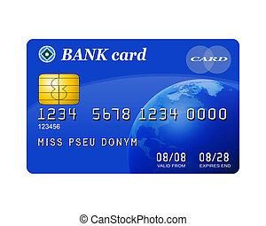 crédit, isolé, carte