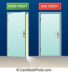 crédit, mauvais, bon