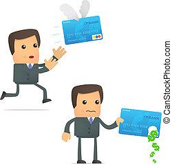 crédit, problèmes, carte