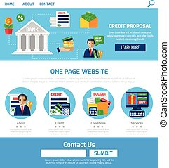 crédit, propositions, page, une, site web