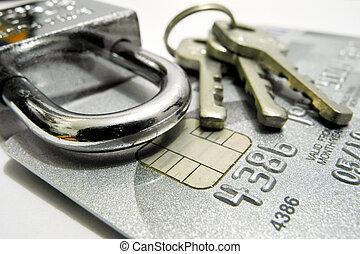 crédit, sécurité, carte