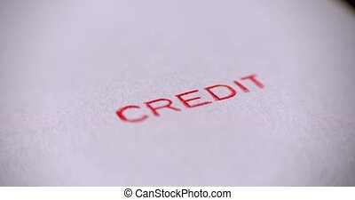 crédit, tampon