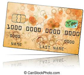 crédit, vecteur, carte