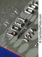 crédit, vue, haut, carte, fin