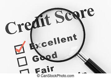 crédito, bom, contagem