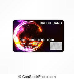 crédito, card., operação bancária, conceito